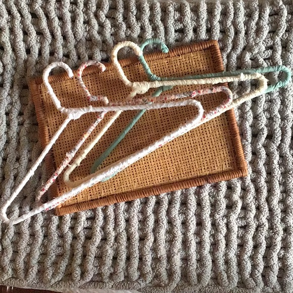 Fabric up-cycled hangers -no-slip,light and floral